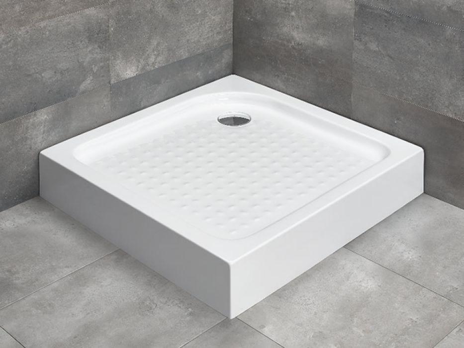 Radaway Rodos C 80x80 / 90x90 cm szögletes zuhanytálca szifonnal, lábbal