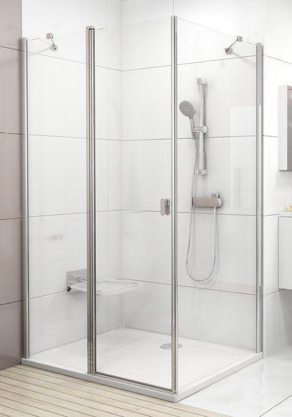 Ravak Chrome CRV2 + CPS Szögletes nyílóajtós zuhanykabin, 195 cm magas