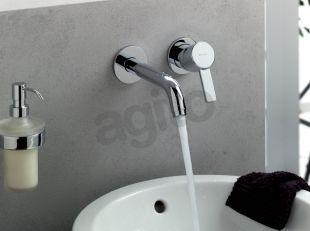 Kludi Zenta falsík alatti, kétlyukas, fali mosdócsap 382450575