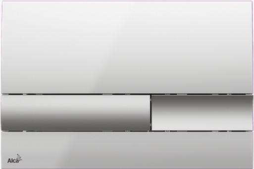 Alcaplast M1743 Nyomólap falsík alatti rendszerekhez (Fényes/matt króm)