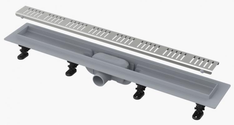 Alcaplast APZ10-850M Simple - Zuhanyfolyóka peremmel perforált rácsokhoz