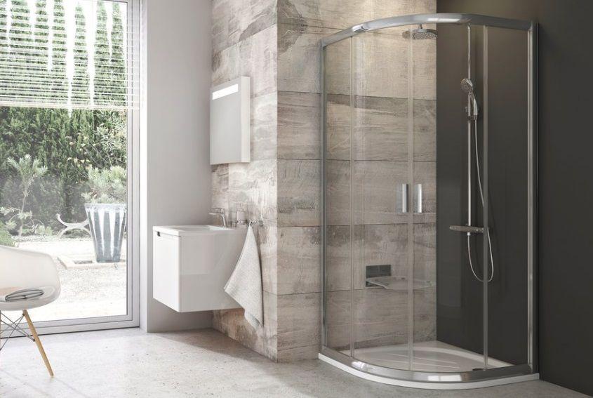 Ravak Blix BLCP4 négyrészes íves tolóajtós zuhanykabin Grape 80 x 80 cm; 90 x 90 cm, 190 cm magas