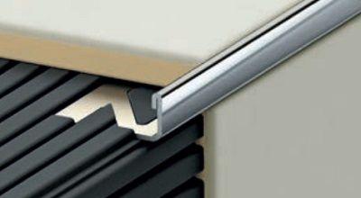Profilplast Inox Szögletes élvédő 6 mm (falvastagság 1 mm)