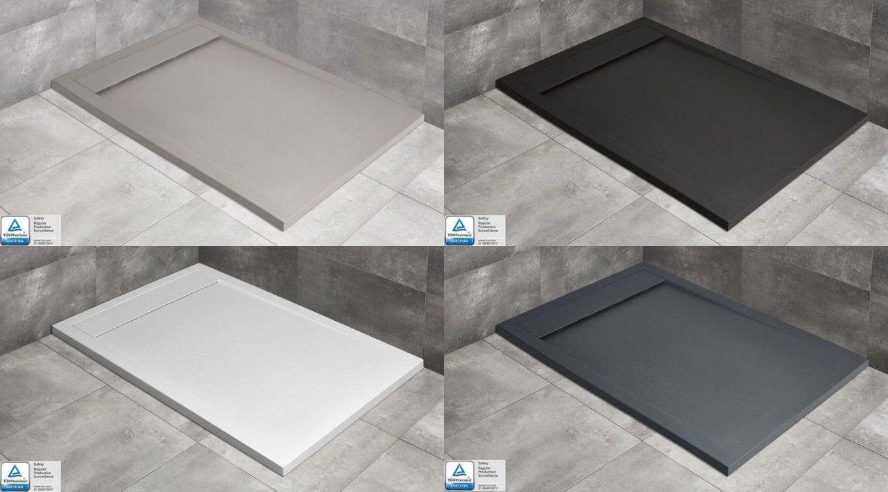 Radaway Teos F 90x100 / 90x110 / 90x120 / 90x130 / 90x140 / 90x150 / 90x160 / 90x180 szögletes zuhanytálca szifonnal